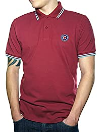 Northern Soul MOD Target Top Quality Embroidered Polo Shirt Men's Fashion Quality Heavyweight T-Shirt.