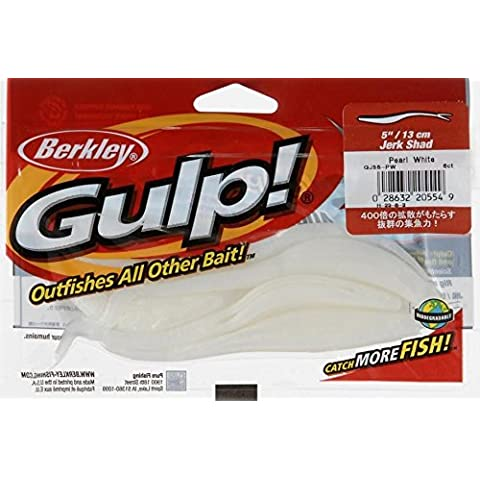 Berkley Jerk Shad Pearl White Gulp! Bait 5