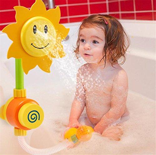 Badewanne Wasser Spielzeug (Sonnenblume Dusche Spielzeug Wasser Badewanne Baby Bad Spray Badewanne Brunnen Wanne Kinderspielzeug Werkzeug für alle Kinder Farbe Zufällig)