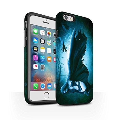 Officiel Elena Dudina Coque / Matte Robuste Antichoc Etui pour Apple iPhone 6+/Plus 5.5 / Somnambule/Insomnie Design / Magie Noire Collection Vent/Orage/Forêt