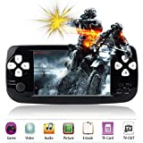 "Handheld Game Console,Rongyuxuan Portable Video Game 4.3""TFT Screen 4GB PAP Classic Handheld Game Console 653games 64 Bit Portable Game Console,Birthday Gift For Children-Black"