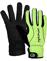 Optimum - Guantes de ciclismo para hombre (invierno) verde Black/Fluo Green Talla:large