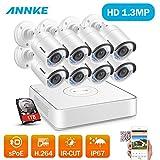 ANNKE 1080P POE Kit Videosorveglianza 8 Canali 8 Telecamera Sorveglianza 960P Videoregistratore Guida Italiana IP67 H.264 P2P Motion Detection Allarme Email Bullet Camera IP 1TB HDD