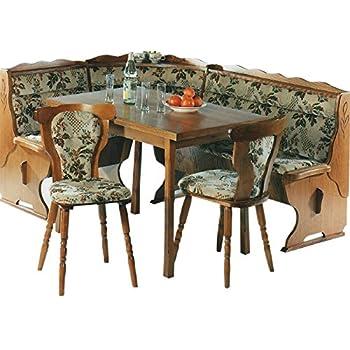 Chaises Coin De Repas Avec Table 2 Chaises Et Banc Pin Massif Blanc