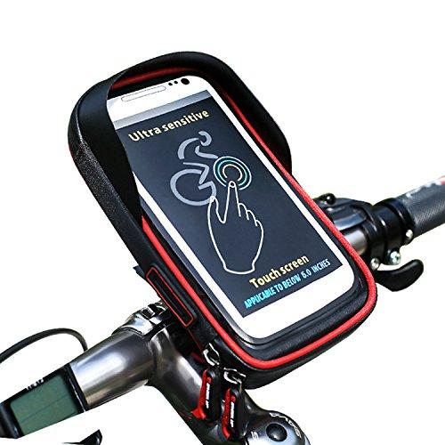 Bike Handy Lenkertasche, cheeroyal Bike Phone Halter Universal Wasserdicht Handy Fahrrad & Motorrad Halterung Wiege mit 360Drehen für iPhone 78Plus 6S 6Plus 55S Samsung Galaxy S8S7Edge S6Edge Plus S5Note 345HTC Huawei Xiaomi OnePlus Google Nexus 54Smartphones, rot