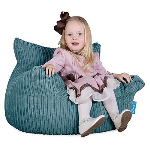 Lounge Pug, Kindersessel Sitzsäcke, Sitzsack Kinder, Cord Türkis