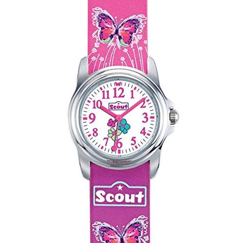 Scout Mdchen Analog Quarz Uhr mit Lederimitat Armband 280301024 - 2