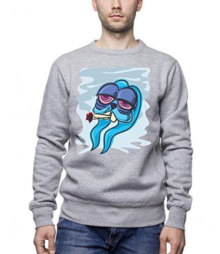 Three Monkeys Tired Bunny Animals Collection Men's Unisex Sweatshirt Grigio X-Large