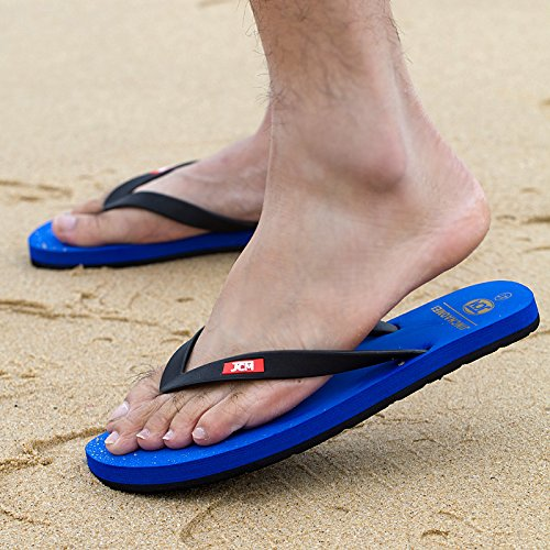 Men's Big size tongs, men's summer porter des pantoufles pour hommes, salle de bains, antidérapant pieds cool rdp, men's casual chaussures de plage Blue