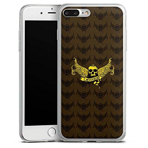Apple iPhone 8 Slim Case Silikon Hülle Schutzhülle Gold Skull Nevermind Silikon Slim Case transparent