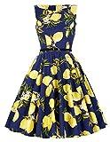 1950er vintage audrey Hepburn kleid schwingen pinup rockabilly kleid sommerkleid Größe XS CL6086-30