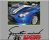 Ecoshirt I8-C36E-A7ZM Pegatinas Mind Hyundai R249