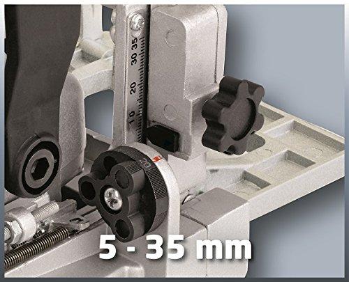 Einhell Flachdübelfräse TC-BJ 900 (860 W, 14 mm, Winkel- und Höheneinstellung, Staubfangsack, Koffer)
