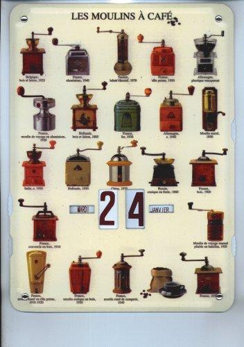 Appletree Home & Garden immerwährender Kalender Kaffee-Mühle