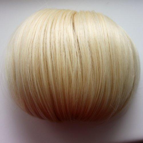 offener DUTT Haarteil Zopf Haarknoten Hepburn-Dutt Haargummi diverse Farbe (Platinblond (Farbton 88/613))