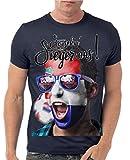 Stylotex Slimfit Fashion T-Shirt So sehn Sieger aus Shout for Croatia Hrvatska Kroatien, Farbe:navy;Größe:L