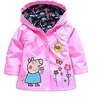 Cartoon Peppa Pig Flower Baby Girls Kids Coat Jacket Coat Hoodie Outwear