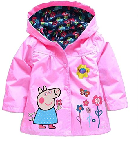 Cartoon Peppa Pig Flower Baby Girls Kids Coat Jacket Coat Hoodie Outwear