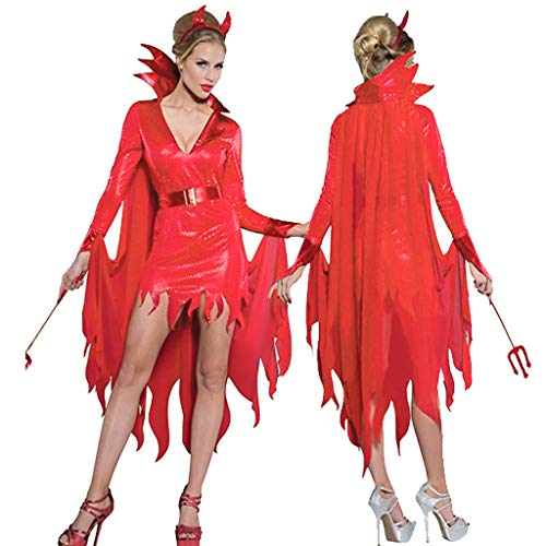 Stretch Kostüm Göttin - Allence Damen Halloween Gothic Langes Kleid Vampir Hexe Kleider Cosplay Hexenkostüm Kostüm Schwarz Partykleid Temperament Göttin Königin Kleider Umhang Maxi Kleid