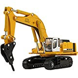 Happy Cherry Hydraulic Excavator H120 E Hydraulic Hammer 1/87 Scale Diecast Model Toy Car
