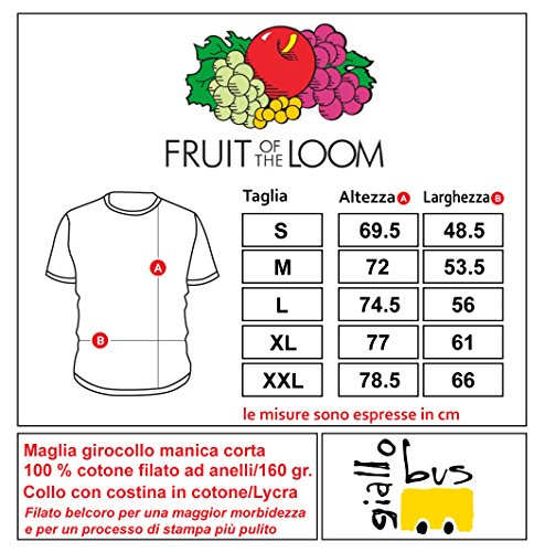 Giallo Bus - T-shirt - K2 Montain - Bianco Bianco