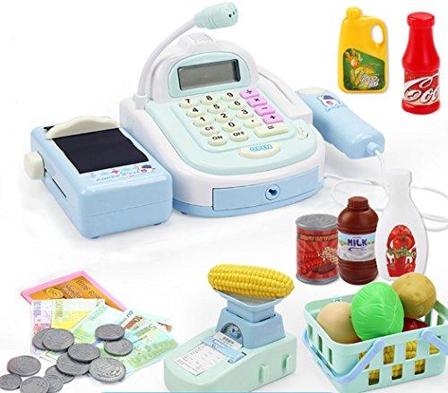 Joyibay Juguete de Caja Registradora Pretender el Mercado de Juguetes Mini Creativo Mercado Conjunto de Juguetes para Niños
