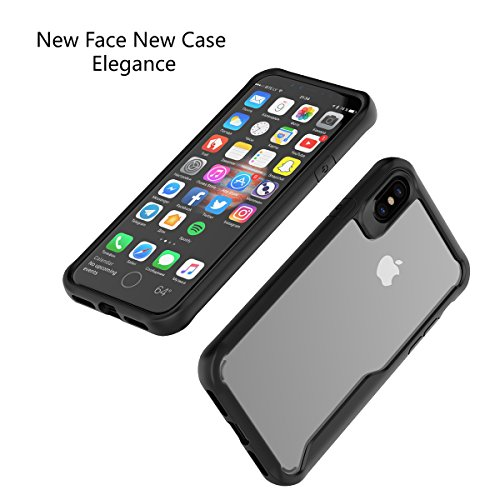CaseforYou Hülle iphone X Schutz Gehäuse Hülse Ultra Thin Shockproof TPU Phone Back Case Cover Non-slip Full Body Protective Shell Schutzhülle für iphone X Handy (Black) Black