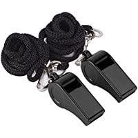 Mudder Plastic Sports Coach Whistles with Lanyard