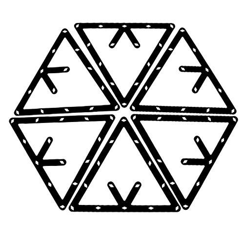Magische Rack - TOOGOO(R)6 Stk. Magische Rack Billard Dreieck Triangel Queue Zubehoer schwarz 8,9 und 10 Ball