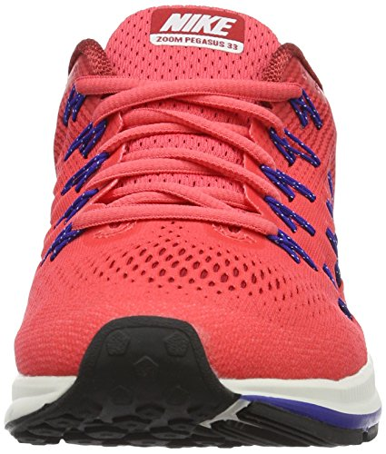 Nike Herren Air Zoom Pegasus 33 Laufschuhe Rot (Ember Glow/Weiß-Gym Rot-Loyal Blau)