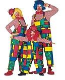 Stekarneval - Costume di Carnevale, soggetto: clown, da uomo, con salopette, taglia 50-60
