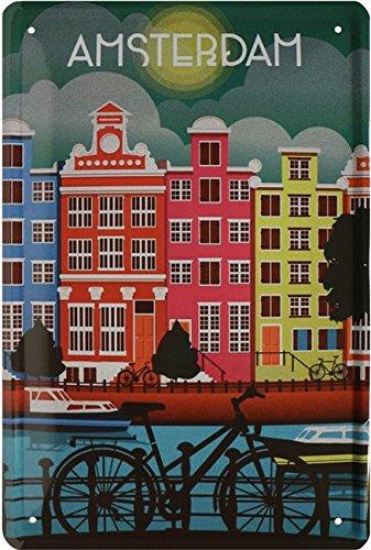 Amsterdam Gilbert bicicletta Paesi Bassi Holland Targa 20x 30retrò lamiera 1788