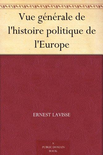 Couverture du livre Vue générale de l'histoire politique de l'Europe