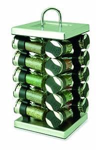 olde thompson pr sentoir pices rotatif carr chrome 20 pots cuisine maison. Black Bedroom Furniture Sets. Home Design Ideas