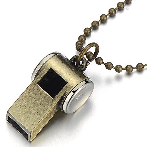 Pfeifen Anhänger Herren Jungen Halskette mit 67cm Kugelkette