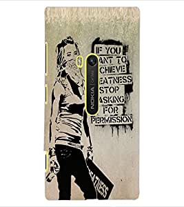 ColourCraft Image with Quote Design Back Case Cover for NOKIA LUMIA 920