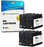 Printing Pleasure 8 XL Druckerpatronen für HP Officejet 6100, 6600, 6700, 7110, 7600, 7610, 7612 | Ersatz für HP 932XL, HP 933XL CN053AE CN054AE CN055AE CN056AE