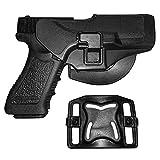 IMAGE arma de la caza Titular táctico rápida Funda Right Hand Paddle y clip cinturón se ajusta para Glock 17/22/31 Negro