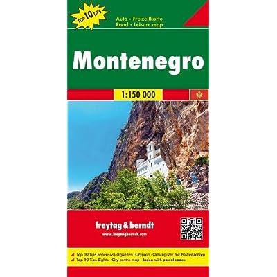Montenegro 1:150.000: Toeristische Wegenkaart 1:150 000