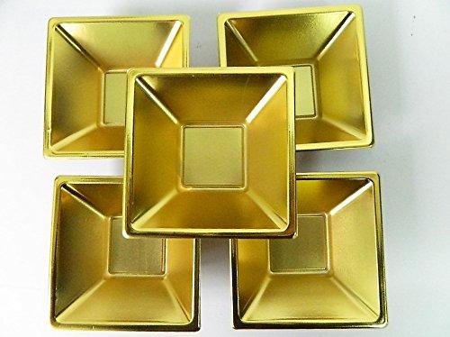 Lot De 25 Coupelles Jetable En Plastique dorée Coupelle Bol 11,7x11,7cm Verrine