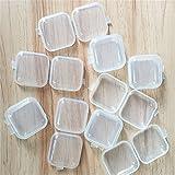 10x Milopon Ohrstöpsel Box Gehörschutzstöpsel case Mini Kunststoffbox Transparent für Ohrstöpsel Medikamenten Fischhaken kopfhörer 3.5*3.5CM