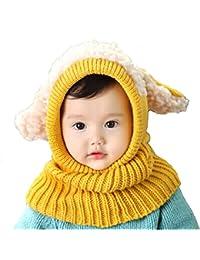 Ukamshop schön Baby Kinder warme gestrickt Schalkappe mit Ohren Hüte Beanie