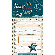 Hygge Planer 2019: Familienplaner, 5 große Spalten. Mit Ferienterminen, extra Spalte und Vorschau für 2020. Mit extra Platz für hyggelige Momente. Format: 27 x 47 cm