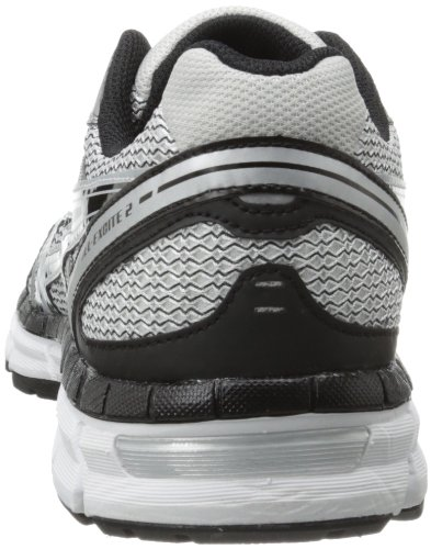 Asics Gel-Excite 2 Breit Maschenweite Laufschuh White/Black/Silver