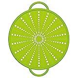 Emsa SMART KITCHEN Couvercle anti projections, passoire, en silicone 26cm vert
