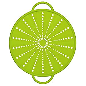 Emsa 514557 Spritzschutz, Ø 26 cm, Silikon, Grün, Smart Kitchen