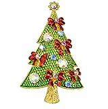 caolator broches Series Arbre de Noël Hommes et Femmes de cristal muletas vêtements broches Décoration du parti mariage de l'anniversaire épingle de Bouquet 3.3*5.3cm Style A
