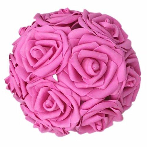 Celine lin Künstliche Blumen 10 Stück echte Haptik künstliche Rosen für Blumensträuße Tischdekoration Hochzeit Party Baby Dusche Dekoration DIY Rose