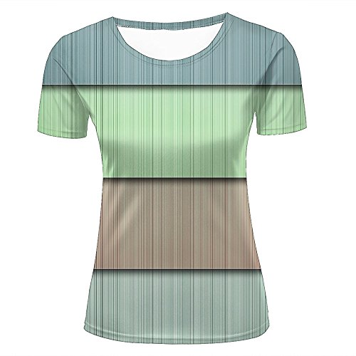 Color Block Denim Shirt (lingshirt Women 3D Tshirts Unisex Block Lines Block Texture Fashion Summer Tees Top XL)