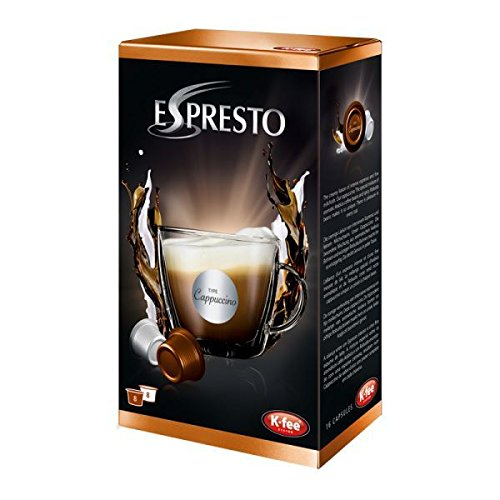 K-Fee Espresto Cappuccino, Espresso, Coffee, Arabica, 16 Capsules, 8 Cups of coffee by Espresto 51bSrSxYXLL